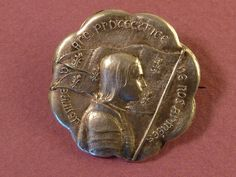 Antique French brooch St Joan of Arc Old Pin by undermycharm