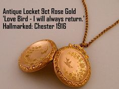 Antique Rose Gold Locket necklaces are the perfect gift for any special occasion... Wedding Gift for Brides, Anniversary Gift for Wife, Birthday