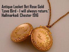 1916 Antique Locket Rose Gold Locket Necklace by AntiqueLockets