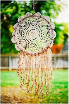 Doily and baling twine Dream Catcher