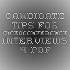 Videoconferencing Interview Tips From Spelman & Johnson Higher Education Executive Search Firm