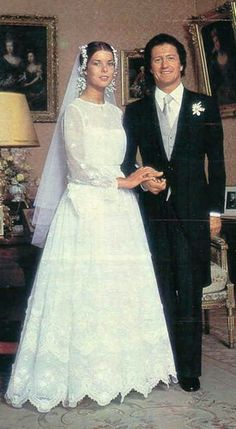 .Princess Caroline of Monaco marries French playboy Philippe Junot. They would later divorce and Caroline would have two more husbands, Stefano Casiraghi and Prince Ernst August of Hanover.
