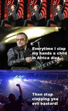 Bono The Evil - funny pictures - funny photos - funny images - funny pics - funny quotes - #lol #humor #funny