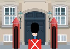 Amalienborg and a Kay Bojesen soldier. Copenhagen illustration by #Sivellink