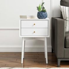 Shop a great selection of Nathan James 32701 Harper Mid-Century Side Table, Two-Drawer Nightstand, White. Find new offer and Similar products for Nathan James 32701 Harper Mid-Century Side Table, Two-Drawer Nightstand, White. Mid Century Modern Side Table, Modern End Tables, White Nightstand, 2 Drawer Nightstand, Nightstand Ideas, Nightstands, Mid Century Living Room, Wooden Side Table, Living Room End Tables