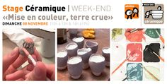 Rrose selavy » Stage Céramique WE | dimanche 08 novembre We, Stage, Sculpture, Food, Sunday, November, Knots, Sculpting, Meals