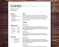Sharp As A Tac Resume Template  Gorgeous Resume Designs