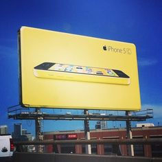 iPhone 5c billboards in San Francisco - slightly beveled, to evoke the look of the iPhone.