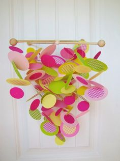 DIY paper crib mobile