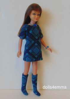 Vintage SL Skipper Doll CLOTHES Dress, Boots and Jewelry HM Fashion NO DOLL d4e #DOLLS4EMMA #ClothingShoes