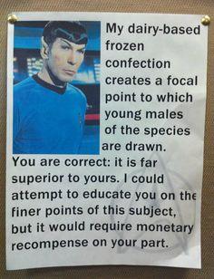 Spock's milkshake