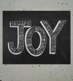 Joy To The World Christmas Chalkboard Art Print | Art Prints | Lily & Val | Scoutmob Shoppe |