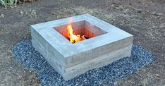 7 Awesome Tips: Large Fire Pit Back Yard fire pit backyard gazebo.Built In Fire Pit fire pit backyard gazebo.Easy Fire Pit How To Build. Metal Fire Pit, Concrete Fire Pits, Diy Fire Pit, Fire Pit Backyard, Diy Concrete, Concrete Pavers, Concrete Projects, Rectangular Fire Pit, Square Fire Pit