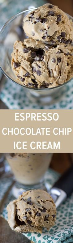 Espresso Chocolate Chip Ice Cream | http://tablefortwoblog.com