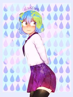 See more 'Earth-chan' images on Know Your Meme! Space Anime, Earth Memes, Anime Version, Popular Anime, Avatar The Last Airbender, Fire Emblem, Anime Style, Anime Naruto, Female Art