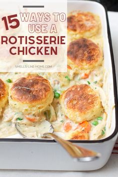Cooked Chicken Recipes Leftovers, Recipe Using Leftover Chicken, Yummy Chicken Recipes, Leftovers Recipes, Turkey Recipes, Dinner Recipes, Recipes Using Rotisserie Chicken, Leftover Rotisserie Chicken, Cooking Recipes