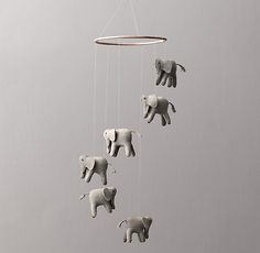 Wool Felt Elephant Mobile - Don't read too much into it... it's just adorable :-)