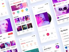Music APP designed by Ivan for BestDream. Connect with them on Dribbble; Iphone App Layout, Iphone App Design, Mobile Ui Design, App Ui Design, Radios, Music App, Music Logo, App Design Inspiration, Business Design