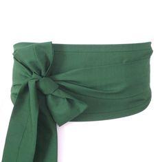 Looby Lou Obi belt - Dark Green