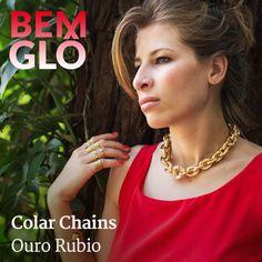 O lindo colar banhado a ouro que Gloria usou hoje no programa Mais você <3  #bemglo #semijoias #colarchains