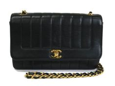 #Chanel Matelasse Chain Shoulder Bag Mademoiselle Lamb Skin Black(BF060151). Authenticity guaranteed, free shipping worldwide & 14 days return policy. Shop more preloved brand items at eLADY: http://global.elady.com