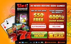 Slot Madness Casino Welcome Bonuses