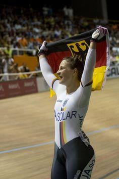 Kristina Vogel se convirtió en la reina del Mundial en Cali al ganar tres medallas de oro /Foto: Diego Sinisterra – Mundial de Ciclismo en Pista Cali 2014