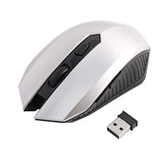 Introducing uxcell PC Computer 24G Scroll Wheel USB Receiver Wireless Optical Mouse Mice Silver Tone. Great Product and follow us to get more updates!