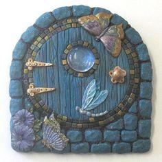 Blue Brick Fairy Door by PatsParaphernalia, via Flickr