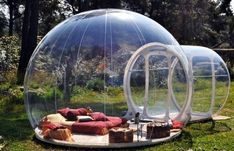 Sleep in a bubble at Attrap' Rêves Allauch, France. #travel #unique #hotels