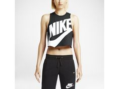 nike crop top - might be a little uncomfortable to be in around the rest of the track team though