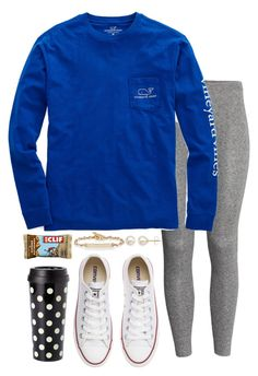 """""""Untitled #140"""" by valerienwashington on Polyvore featuring H&M, Vineyard Vines, Converse, Kate Spade, Hoorsenbuhs, Honora, women's clothing, women's fashion, women and female"""