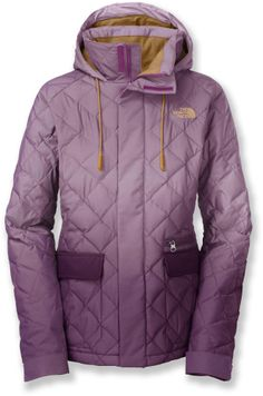 The women's First Day Down insulated jacket by The North Face offers lightweight, water-resistant performance with warm 550-fill goose down. #REIGifts