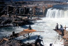 Indian fishing on Columbia River forever lost due to hydroelectric dams.