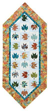 Free pattern for A New Leaf tablerunner