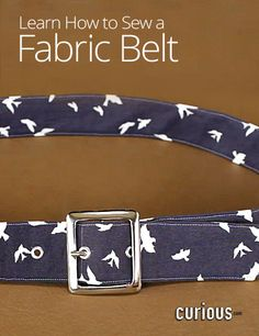 How to Sew a Fabric Belt