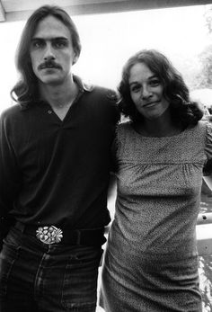 James Taylor and Carole King #carole king #james taylor #vintage #music #1970s