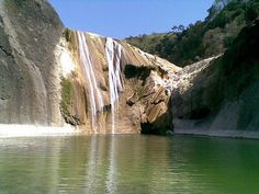 The Pinssal Falls  The tallest terraced waterfalls with a cave behind the main waterfall.