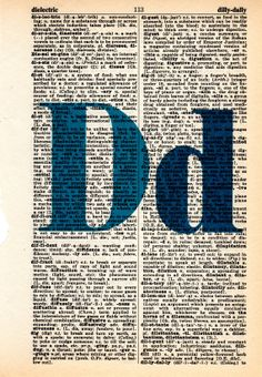 Repurposed Dictionary Art...D by SimpleeSaid on Etsy, $4.50