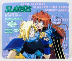 Slayers Lina Inverse & Gourry Gabriev Mouse Pad JAPAN ANIME MANGA
