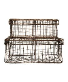 Look at this Wire Basket Set on #zulily today!
