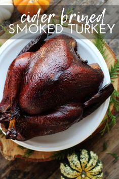 Wow them at the holiday table with this recipe for Cider Brined Smoked Turkey. - Wow them at the holiday table with this recipe for Cider Brined Smoked Turkey. Learn how to brine a - Thanksgiving Main Dishes, Thanksgiving Recipes, Fall Recipes, Dinner Recipes, Thanksgiving 2020, Turkey Recipes, Meat Recipes, Smoker Recipes, Yummy Recipes