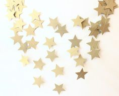 Baby Garland Blue & White Stars Circle Paper by MailboxHappiness