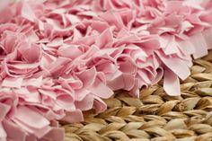 Photography rag rug prop pink rag rug newborn by thymeline on Etsy, $65.00