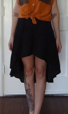 Vintage Redeux Black Suede Mullet Skirt by VTGRDX on Etsy, $40.00