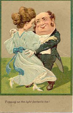 """"""" Shall We Dance """" vintage 1907 PFB Post Card. Published by Paul Finkenrath of Berlin with a highly embossed surface with rich colors, a Divided Back, Used, Post Marked 1907, and in Excellent condition. Karodens Vintage Post Cards at www.bonanza.com/booths/karoden"""