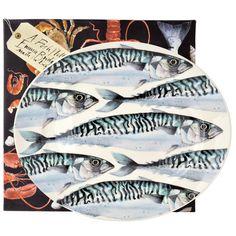 Mackerel Medium Oval Platter Boxed