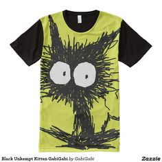 Black Unkempt Kitten GabiGabi All Over Print Shirt