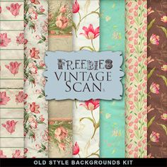 Freebies Vintage Flowers Papers
