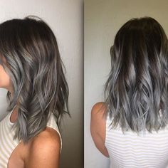 Silver Hair : Pravana Silver Lob Short Hair